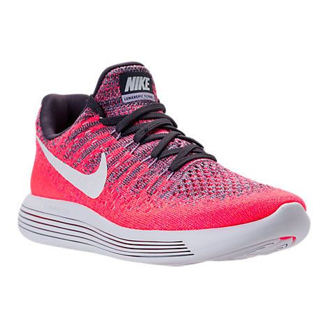 39f3e909636d Young Big Boys Nike LunarEpic Low Flyknit 2 Running Shoes Dark Raisin White  Purple Earth