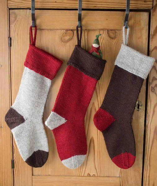 Basic Christmas Stocking - Lamb's Pride Striped Version