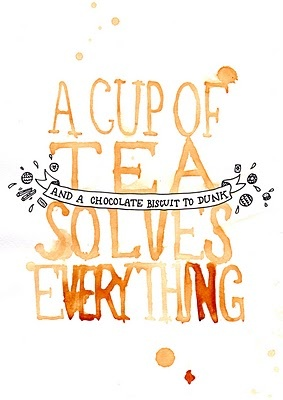 A cup of tea solves everything #art #quote #tea