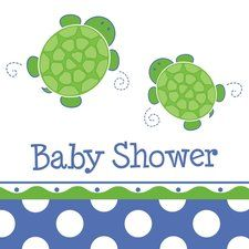 eZPartyZone.com has great ideas for a turtle themed baby shower