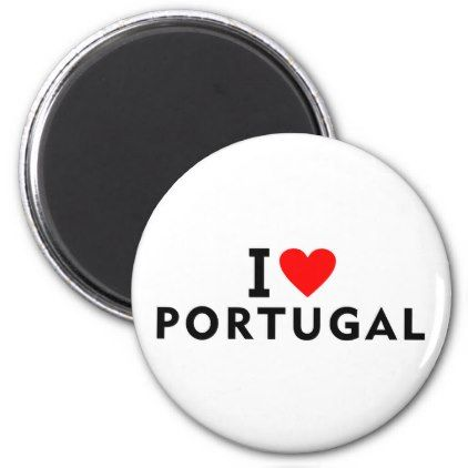 #I love Portugal country like heart travel tourism Magnet - #country gifts style diy gift ideas