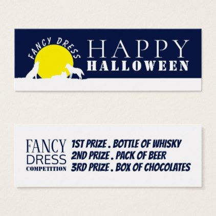 Wolves in Moonlight Fancy Dress Competition Ticket - Halloween happyhalloween festival party holiday