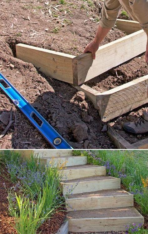 Remark construire des escaliers extérieurs | La conception de cet escalier de jardin s'a…