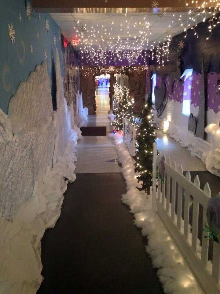 Hallway Going To The Book Fair And Santa Pictures Winter