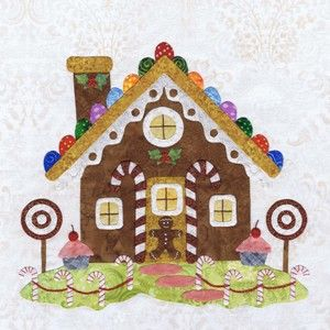 Baltimore Christmas Block 10: Applies Quilts, Applies Block, Baltimore Christmas, Christmas Blocks, Christmas Quilts, Quilt Blocks, House Quilts, Gingerbread Houses, Block Patterns