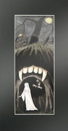 EDWARD GOREY LASER CEL ART - LUCY AND THE CAVE