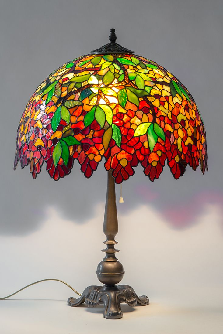Stained Glass Decorative Lamp Unique Tiffany Style Lamp Bronze