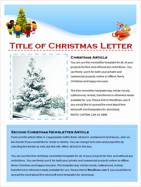 Free Holiday Newsletter Templates Luxury 27 Microsoft Newsletter Templates Doc Pdf Psd Christmas Newsletter Christmas Letter Template Newsletter Template Free