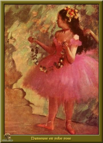 Dancer in pink dress - Edgar Degas Completion Date: 1880 Style: Impressionism Genre: genre painting