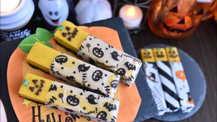 Pumpkin man stick cheesecake【量産向】パンプキンマンのスティックチーズケーキ【ハロウィン】