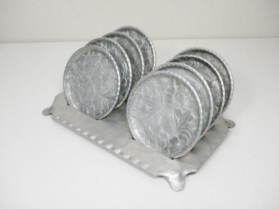 vintage des ann es 1940 everlast en aluminium forg sous verres en cadeau de pendaison de. Black Bedroom Furniture Sets. Home Design Ideas