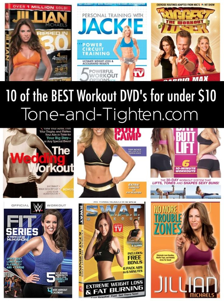 For those of you that can't afford a gym membership or have kids with nowhere to go while you workout. 10 of the Best Workout DVDs on Tone-and-Tighten.com