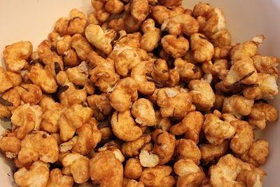 Microwave Caramel Corn Recipe...the best ever!  Use 2 bags of puffcorn per recipe.