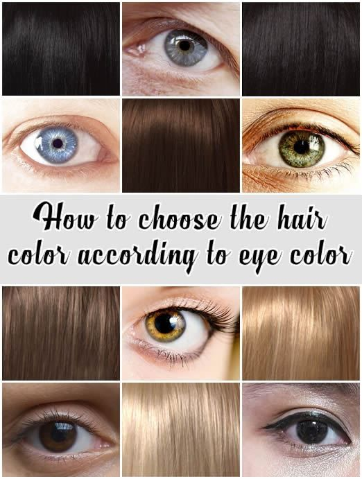 How To Choose The Hair Color According To Eye Color Eye