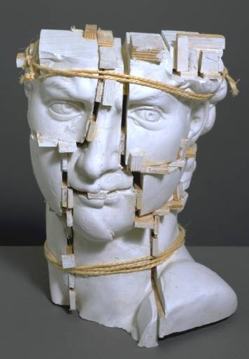 'Michelangelo's David' by Eduardo Paolozzi, 1987.  Made with plaster, plywood and string.