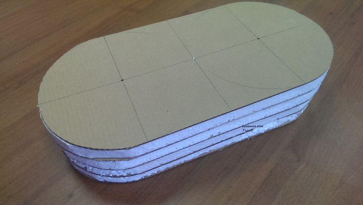 Форма-сендвич из гофрокартона и пенопласта