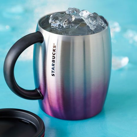 Stainless Steel Desktop Mug - Purple, 14 fl oz. $16.95 at StarbucksStore.com --- I adore these colors!