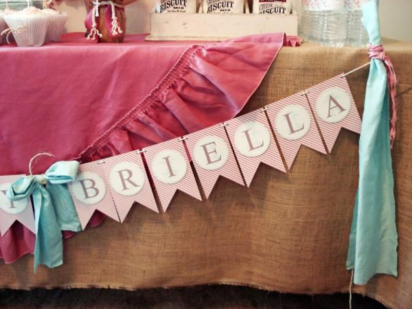 Vintage Chic Girl 1st Birthday Party Planning Ideas Decorations Idea