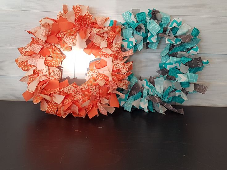 Rag Wreaths  #goldenforrest #goldenforrestcreations #handmade #wreathideas #frontdoordecor #ragwreath #patterns #wreath