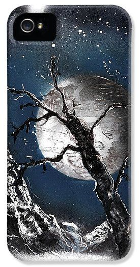 Night Of Wolves IPhone 5 / 5s Case Printed with Fine Art spray painting image Night Of Wolves by Nandor Molnar (When you visit the Shop, change the orientation, background color and image size as you wish)