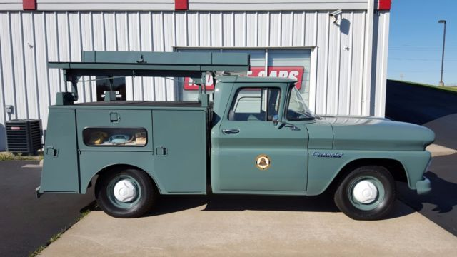 Vintage Southwestern Bell Telephone Service Truck Classic 1960 Chevrolet C 10 Chassis With Utility Box For Sale Gmc Trucks Trucks Custom Chevy Trucks