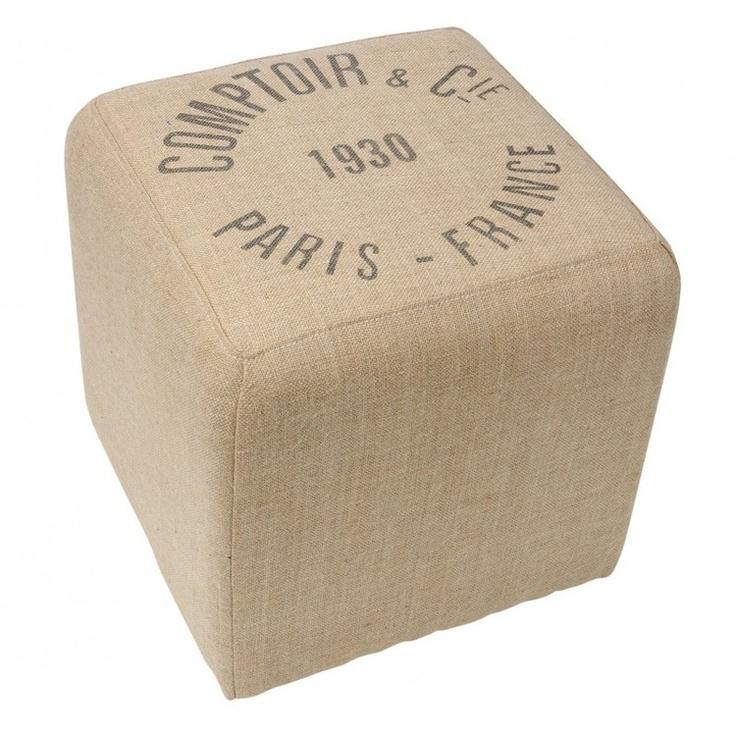 French Design Square Pouffe
