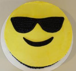 Sunglasses Emoji Cake