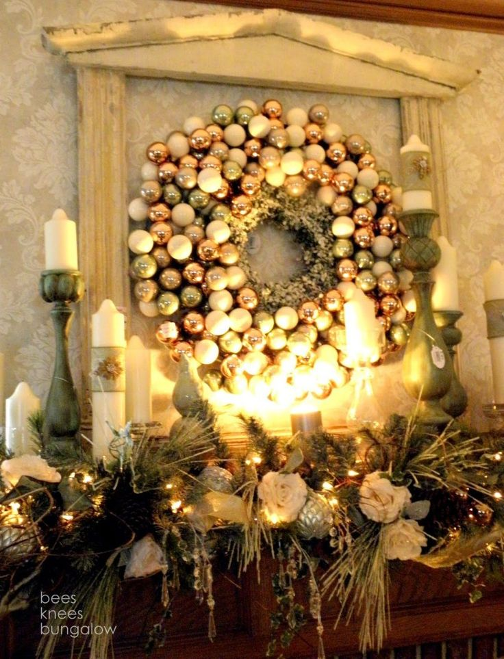 31 Best Christmas Mantel Decorating Ideas for 2013 & 70 best Christmas--Mantels images on Pinterest | Christmas mantels ...