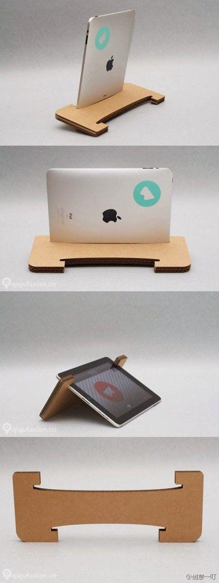 DIY : Cardboard iPad Tablet Stand