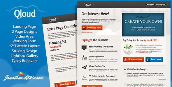 Qloud Landing Page - Landing Pages Marketing