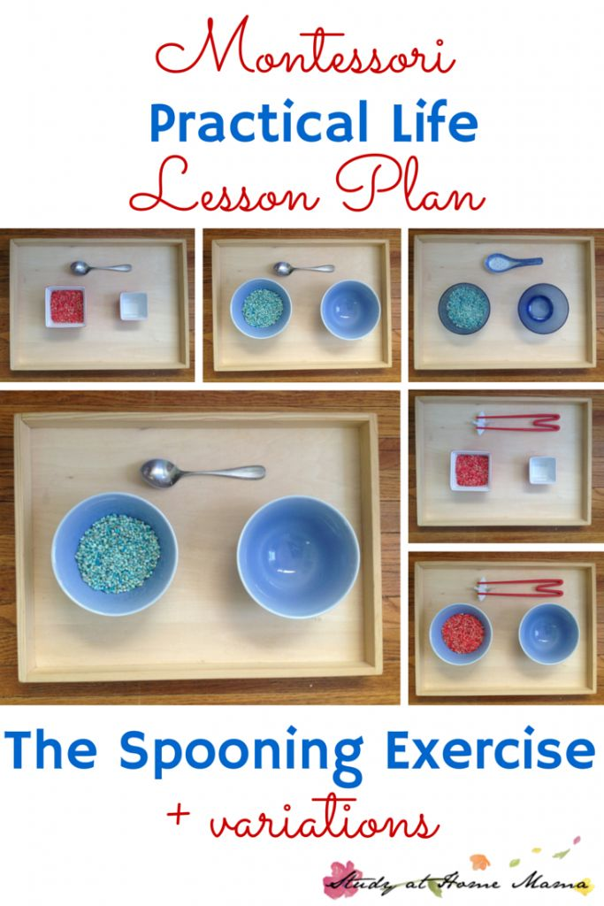Montessori Practical Life Lesson Plan: the Spooning Exercise