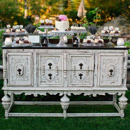 Antique dresser dessert table
