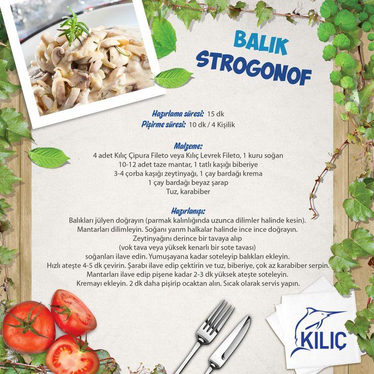 Balık Strogonof #KilicDeniz #yemek #tarif