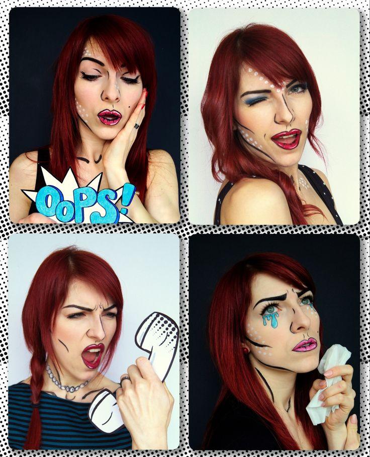 pop art pop art makeup comicbook makeup