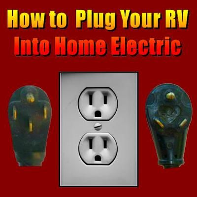 How to Plug Your RV Into Home Electric: I just bought a 29 foot Fleetwood Carry. The battery is down on it. I have it in my driveway can I hook it up to my house electric? If so, how?  This is