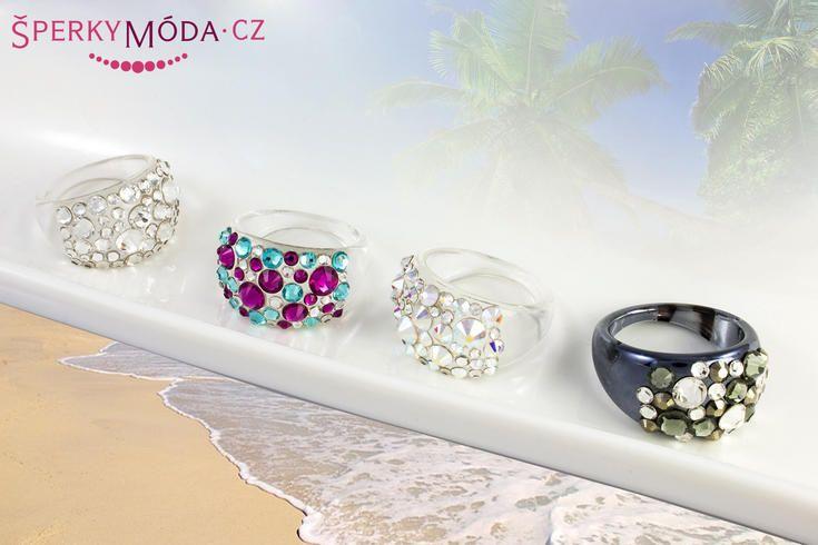 Prsteny, se ketrými se můžete bez obav koupat #sperkymoda.cz #sperky #jewellery #jewelry #fashionjewellery #bizu #ring #czech #czechgirl #prsten #swarovski elements
