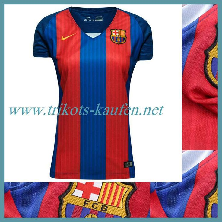 Neu FC Barcelona Trikot Damen Heim Rot/Blau 2016 2017 Original