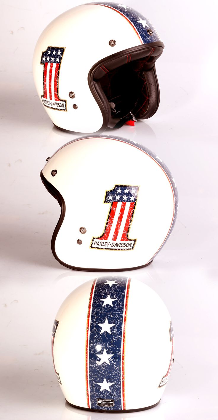 "Harley-Davidson Helmet ""Americana Retro"" Shell made by Bell."
