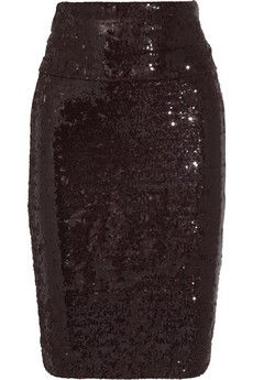 Donna Karan Sequined stretch-tulle skirt | THE OUTNET