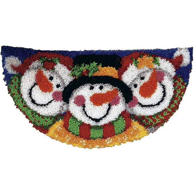 If you love crafts, you'll love the Merry Men latch hook rug kit Needlework kit includes precut rug yarn Even if you are new to needlework, you can follow the illustrated instructions on how to latch hook