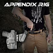 The modular appendix rig! The most comfortable AIWB Holster on the market. It's flexible and bends with the body, virtually disappearing in the waistband. Mag carrier is detachable.