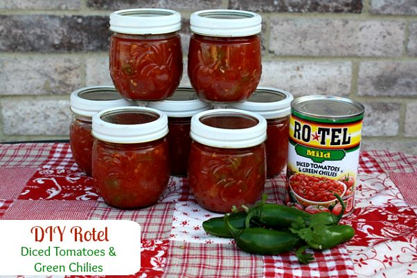 DIY Homemade Rotel (Tomatoes & Green Chilies)