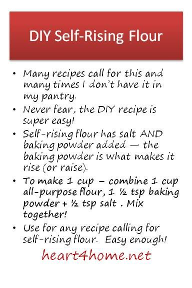 There must be an easier way than to buy a bunch of Self-Rising Flour!...There is.