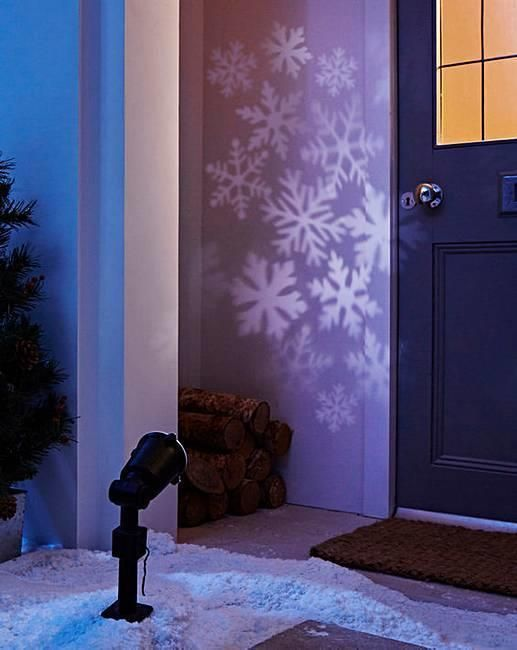 Details about Festive Snowflake 20M Projector Light Up Mains