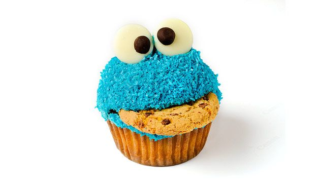 Cookie Monster Cupcakes... using dyed dessicated coconut, blue butter frosting and white chocolate buttons. Use good food colouring, as have tried this using cheap stuff which didn't work.