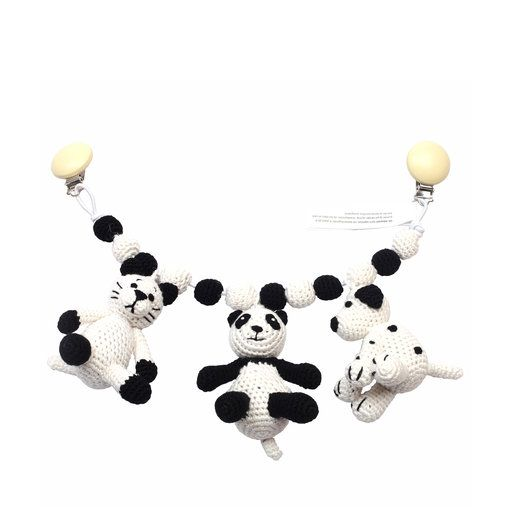 Barnvagnshänge - Mrs. Cat, Sir Panda and Mr. Dog - Babyleksaker- Köp online på åhlens.se!