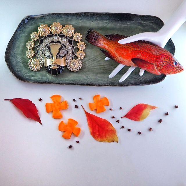 Rode vis met boekweit en zoete aardappel in hooi voor de Obama's - Vogue Nederland
