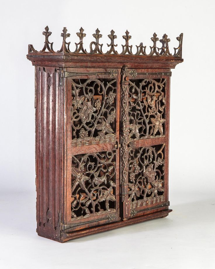 15th century Gothic hanging cupboard, Marhamchurch antiques