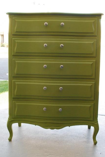 Dresser in Ben Moore - Olive Moss