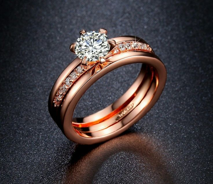 18k gold plated ring set  SHOP it now via our website www.almaasjewels.com